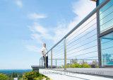 De buiten Balustrade van het Balkon van het Roestvrij staal van het Traliewerk van het Dek van de Draad van het Roestvrij staal