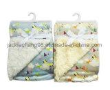 Impresso Micro martas e escovado velo PV Manta de bebé