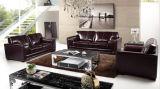 Il sofà di cuoio moderno ha impostato per il sofà del salone con cuoio genuino
