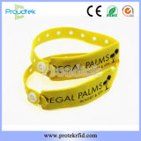 Carnaval étanche bracelet RFID Bracelets en vinyle personnalisé
