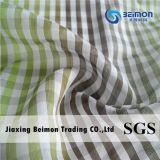 o fio de algodão de 10.5mm 25%Silk 75% tingiu a tela com projeto do batente do reforço