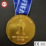 Медаль 2014 кубка мира золота Бразилии с тесемкой