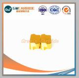 Inserciones de carburo de gira con recubrimiento CVD