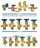Serie delle valvole della bombola per gas dell'acetilene dell'ossigeno