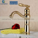 Bassin d'or Mixer&Faucet de salle de bains