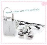 loupes dentaires binoculaires chirurgicales de dentiste de jaune de rapport optique de la distance de fonctionnement de 320mm 420mm 2.5X 3.5X avec la lumière principale de DEL - Javier