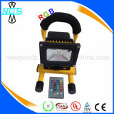 Temps de travail prolongé 10W LED Rechargeable Portable Flood Light