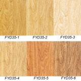 Azulejo de piso impermeable del vinilo del suelo del 100% WPC