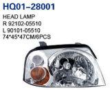 Selbsthauptlampe für Hyundai Santro/Atos Soem 2004 92101-05510/92102-05510/92102-05500/92101-05500/92120-05520/92110-05520