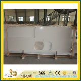 Prefabricated Pure White Quartz Kitchen Stone Countertop for Decoration