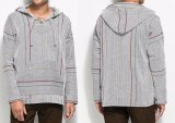 Alta vita Hoodies del pullover grigio