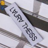 Coloque papel branco comum Sinicline Vestuário Etiqueta tecida com logotipo simples