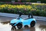 Novo Design de Cor Azul Bebê Curta Carro com empurre o manípulo com luz e música