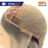 En stock pour expédition immédiate 100 % de cheveux humains Fashion Lady Deux tonalités de gris Lace Front Wig