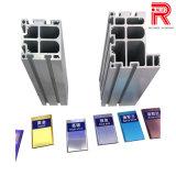 Perfil de alumínio extrudido Aluinium/Anodização colorida para a criação de perfil
