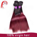 8A 100%年のBarzilianの人間の毛髪の直毛の製品のOmberの毛