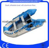 Boten van pvc van de Vloer van het aluminium de Opblaasbare van het Rubberbootje Hypalon of