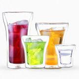 Taza de café creativa transparente caliente del Cappuccino del vidrio de agua de la bebida de Pyrex
