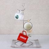 Mensola d'attaccatura della tazza del metallo fissato al muro amichevole di Eco con il piatto del Drainer