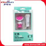 передвижные заряжатель автомобиля USB двойника сотового телефона 2-in-1 и держатель высасывателя резины
