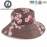 2016 New Ladies Fashion Big Brim Reversible Flower Bucket Hat