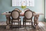 Gebogene runde Rückseiten-französische Weinlese-Art-Möbel, die Stuhl speisen