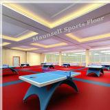PVC Indoor Sports-de-chaussée avec Ittf Norme utilisée pour les courts de tennis de table