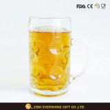 1L는 로고 손잡이를 가진 고정되는 유리 그릇 맥주 유리를 지운다