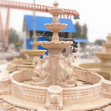 Jardin de l'eau potable de la fontaine en marbre avec tête de lion pour la vente