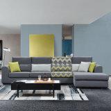 灰色の居間の家具ファブリックコーナーのソファー