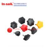 Les boutons en plastique coloré avec insert en métal ou de l'écrou de boulon Threade