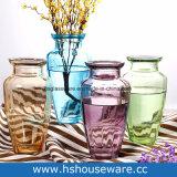 Vaso decorativo domestico di vetro multicolore