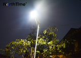 100W LED integrada en el exterior de la calle Solar lámpara con sensor de movimiento