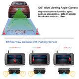 """4.3 de """" Rearview Draadloze Zender van de Monitor van de Spiegel en de Facultatieve Camera van de Sensor van het Parkeren"""