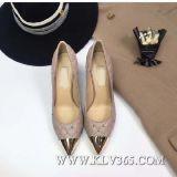 Diseñador de moda las mujeres señalaron la convergencia de Tacón zapatos de cuero