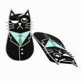 Caixa protetora do telefone móvel do escudo do silicone do gato do cavalheiro para o iPhone 8 & 7 positivos