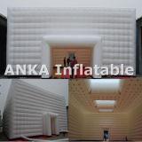 Tenda di pubblicità gonfiabile del gigante della tenda foranea del cubo