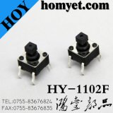 Interruptor del tacto de la alta calidad 6 * 6m m Botón redondo 4pin (DIP)