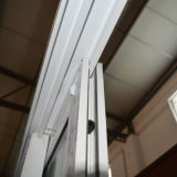 Doppeltes Glas mit Profil-Schiebetür K02035 der Rasterfeld-weißes Farben-UPVC