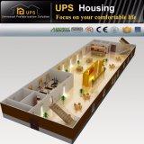 Maison de hôtes modulaire préfabriquée de luxe de structure métallique de coût bas avec le système de panneau