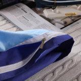 단단한 보통 색깔 면 깃털 이불 덮개 침대 시트 침구 세트