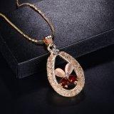 ルビー色の宝石用原石のキャッツ・アイのクローバーのハンドメイドの人工的な吊り下げ式のネックレスの宝石類セット