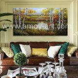 ホーム装飾のための水平の樺の木のキャンバスの壁の芸術