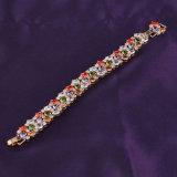Braccialetto bello dell'oro per il braccialetto multicolore del branello della pietra preziosa delle donne