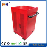 Hoja de Metal de color rojo del Gabinete de carga USB portátil