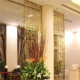 ホテルの居間のためのカスタマイズされたカラースクリーンの高級なステンレス鋼レーザーの切口の金属の区分スクリーン