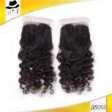 buenos precios Guangzhou de los encierros bajos de seda brasileños del cordón 4X4