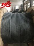 Cuerda de alambre de acero de Nantong Ungalvanized 6X36sw+FC/Iwrc A2 para alzar