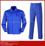 Combinação azul do desgaste do funcionamento do poliéster barato feito sob encomenda novo do algodão do projeto 2018 para os trabalhadores (W310)
