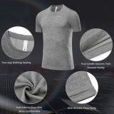 남자의 스포츠 훈련 달리기 Breathable 체조 착용 적당 t-셔츠